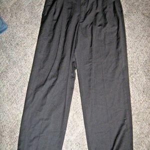 Gray Pleat Front Cuffed 4 Pocket Dress Pants 34/30